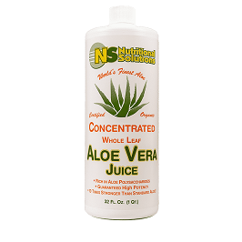 Aloe Vera Juice Concentrate 32 fl. oz. Item # NS-080 front