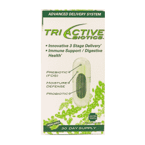 Tri Active Biotics 30 V eg Caps Item # NS-385 front
