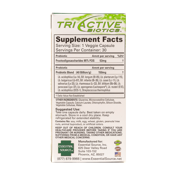 Tri Active Biotics 30 V eg Caps Item # NS-385