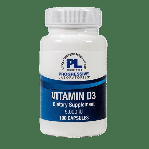 Vitamin D3 - 5,000IU 100 Veg Capsules Item # NS-353